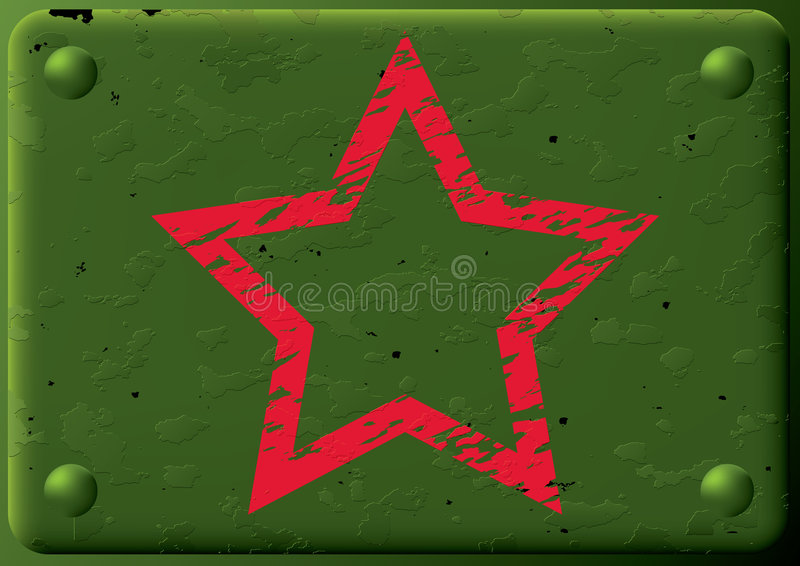 Download Background-armored Plate&star. Stock Photo - Image: 4376730