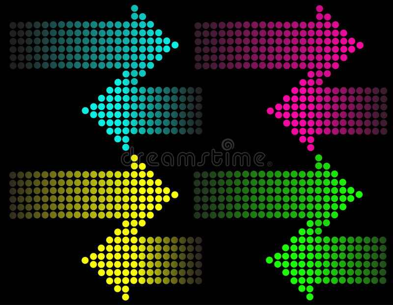 Background With  Arrows Stock Photos