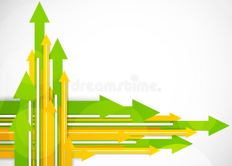 Background with arrows stock illustration