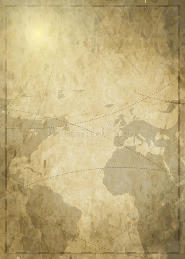 Background Art Ancient Map royalty free illustration