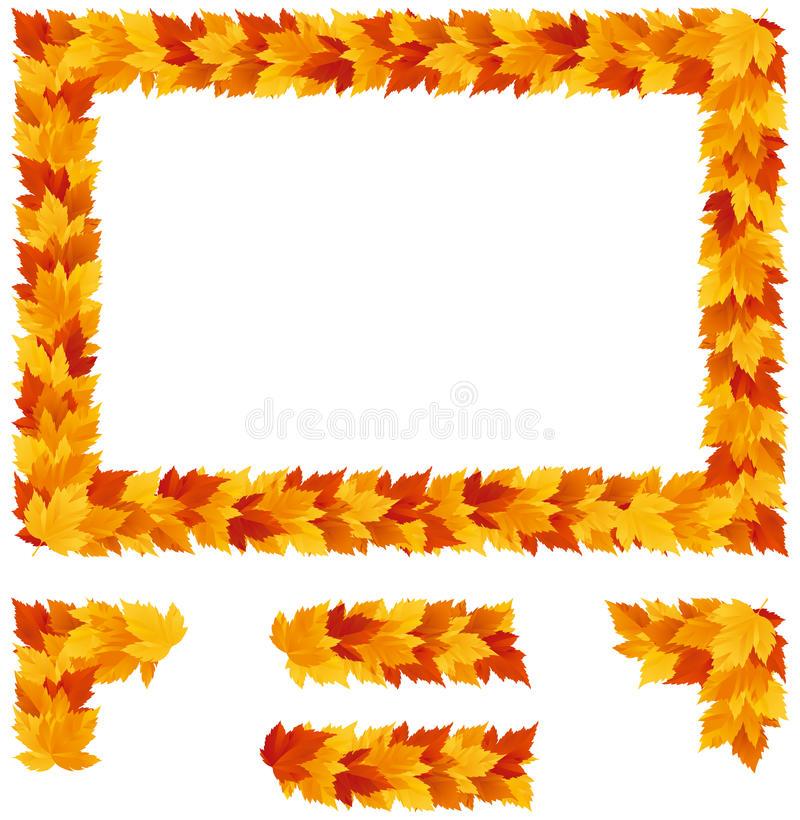 Background with Autumn maple leaves stock illustration