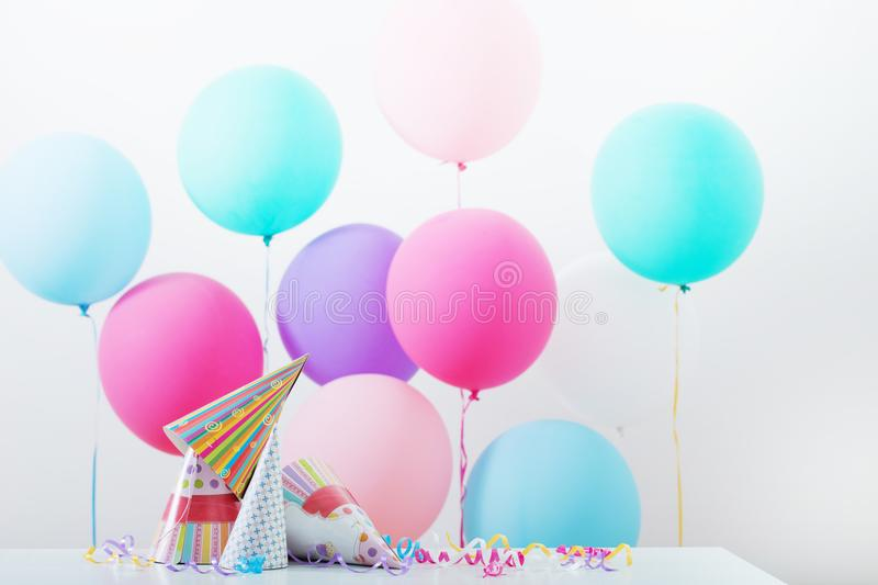Background of balloons for birthday royalty free stock images