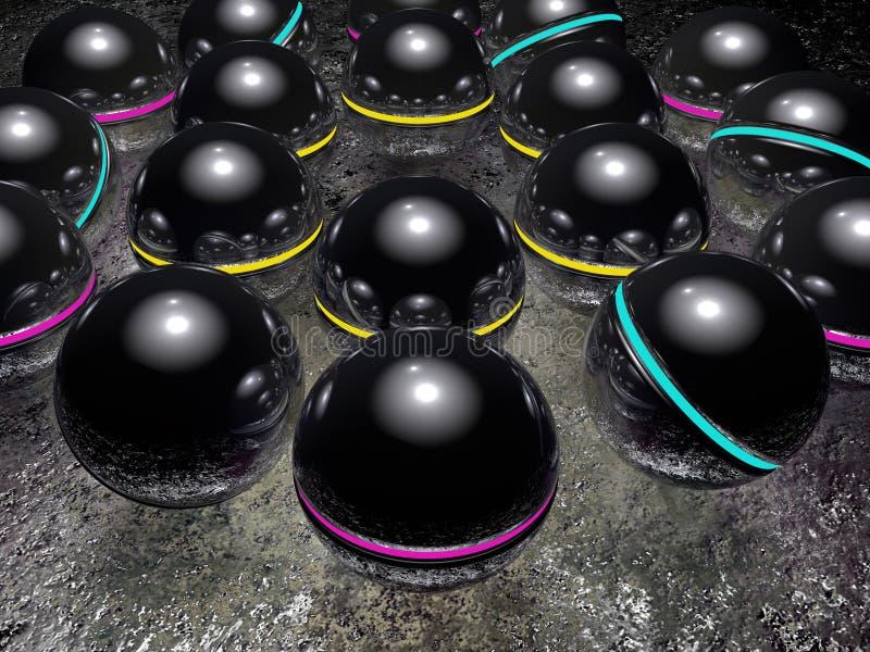 Download Background - balls stock illustration. Illustration of render - 23366716