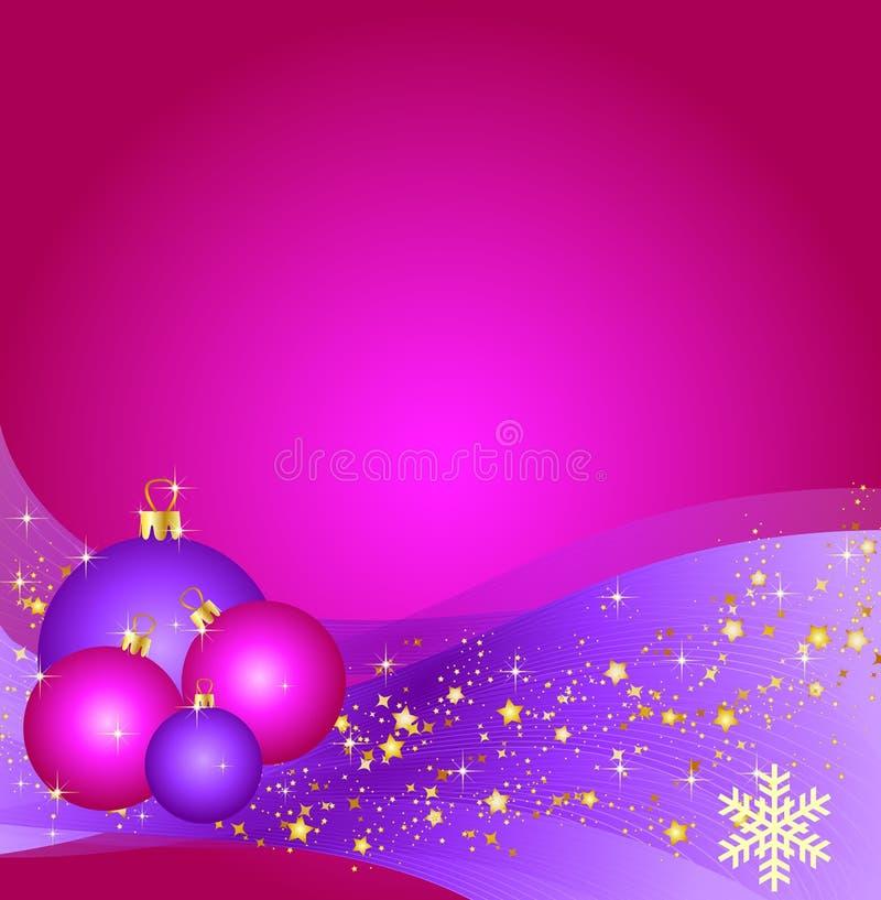 background balls christmas pink иллюстрация штока