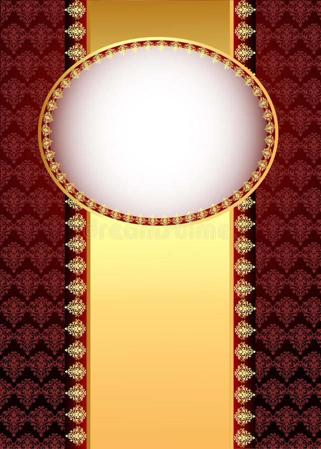 Download Background With Band  With Gold(en) Patt Stock Vector - Image: 25569114