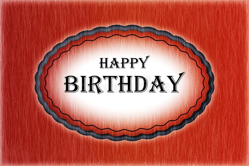 Happy birthday - card royalty free stock images