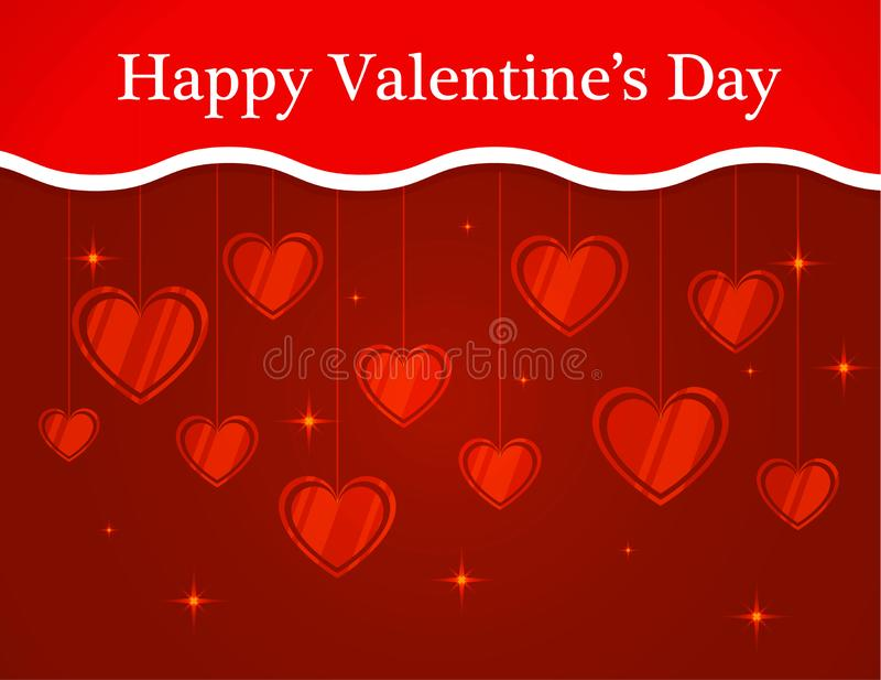 Background banner text for St. Valentine`s Day. royalty free illustration