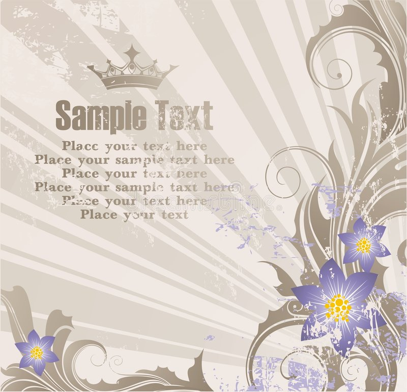 Background with banner for your text vector illustration