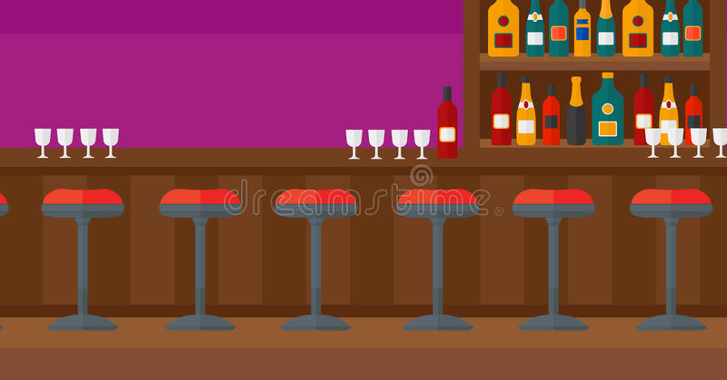 Background Of Bar Counter Stock Vector Image Of