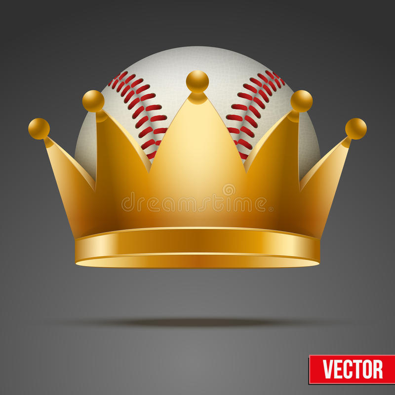 Background of Baseball ball with royal crown royalty free stock photography