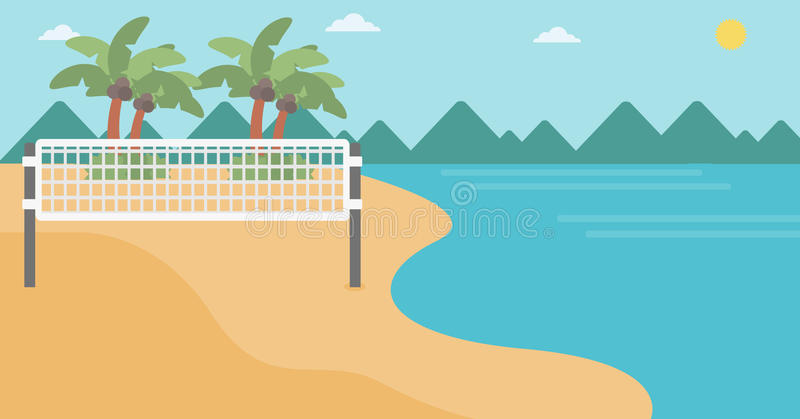 Background of beach volleyball court at seashore. royalty free illustration