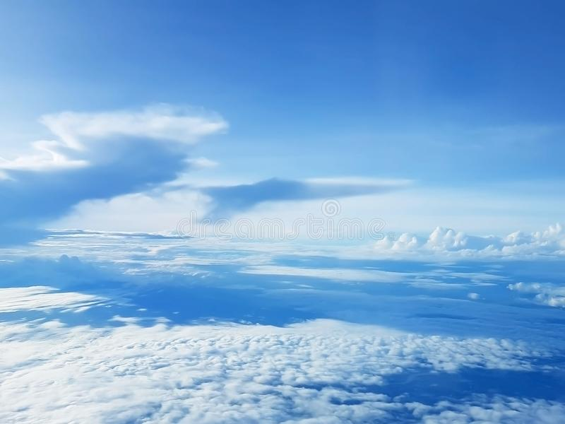 Beautiful soft clouds in blue sky royalty free stock images