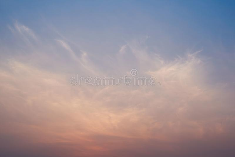 Background of beautiful color sky before sunrise. Background of beautiful color sky and clouds before sunrise royalty free stock image