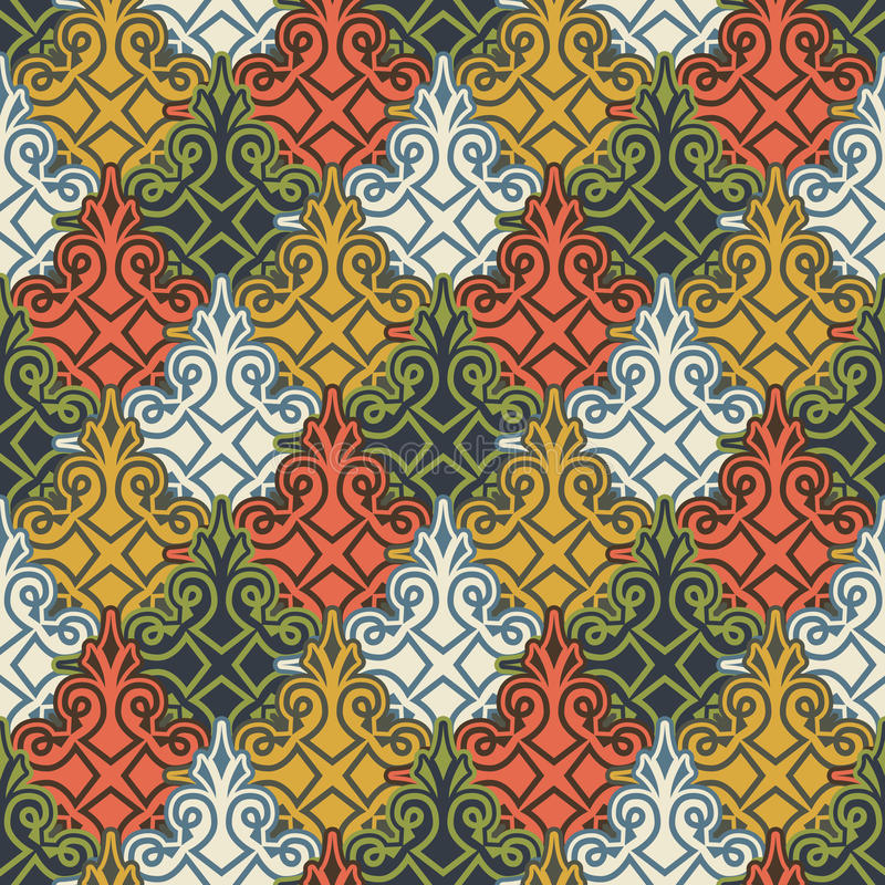 The background of beautiful seamless patterns royalty free illustration