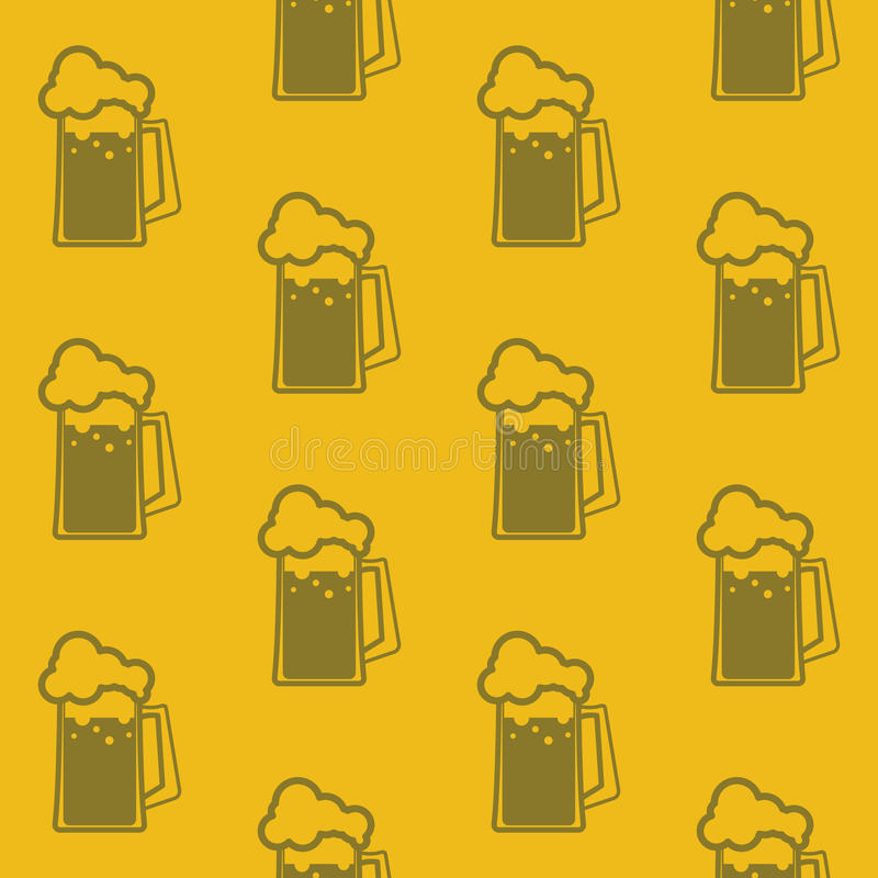 Background with beer mugs. Seamless background with beer mugs royalty free illustration