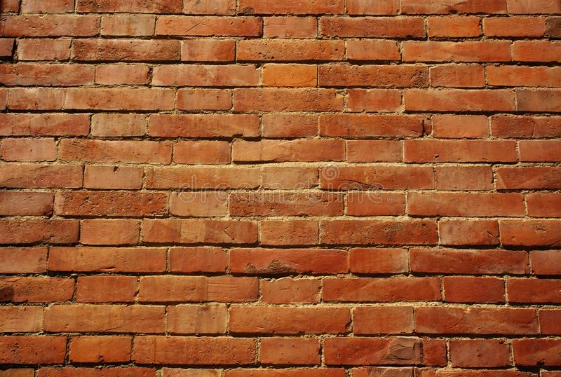Background of bick wall texture. Bricks close up, aged, architecture, backdrop, block, brown, build, cement, construction, design, detail, dirty, grunge royalty free stock photos