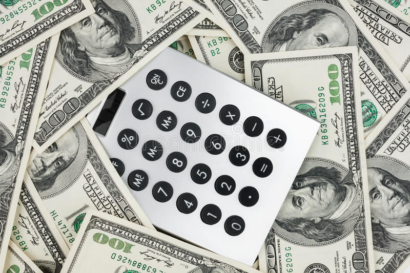 Download Background Of $ 100 Bills And A Calculator Stock Image - Image: 29817171