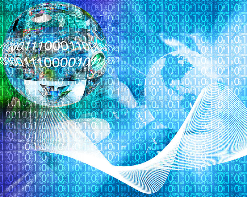 Background Of Binary Code Stock Illustration