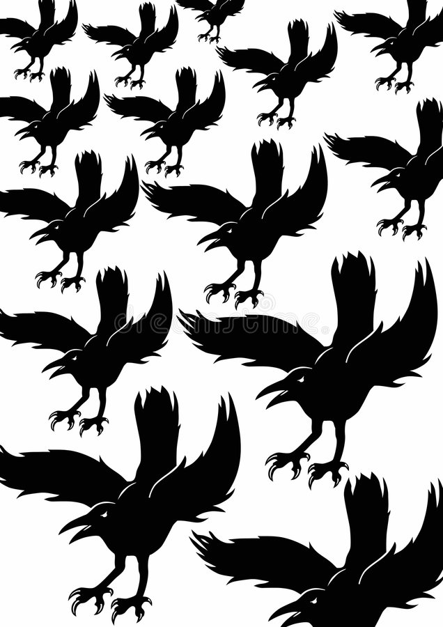 Background Black Crows Royalty Free Stock Photography