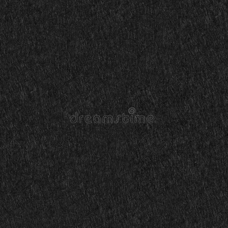 Background of black felt. Seamless square texture, tile ready. High resolution photo royalty free stock image