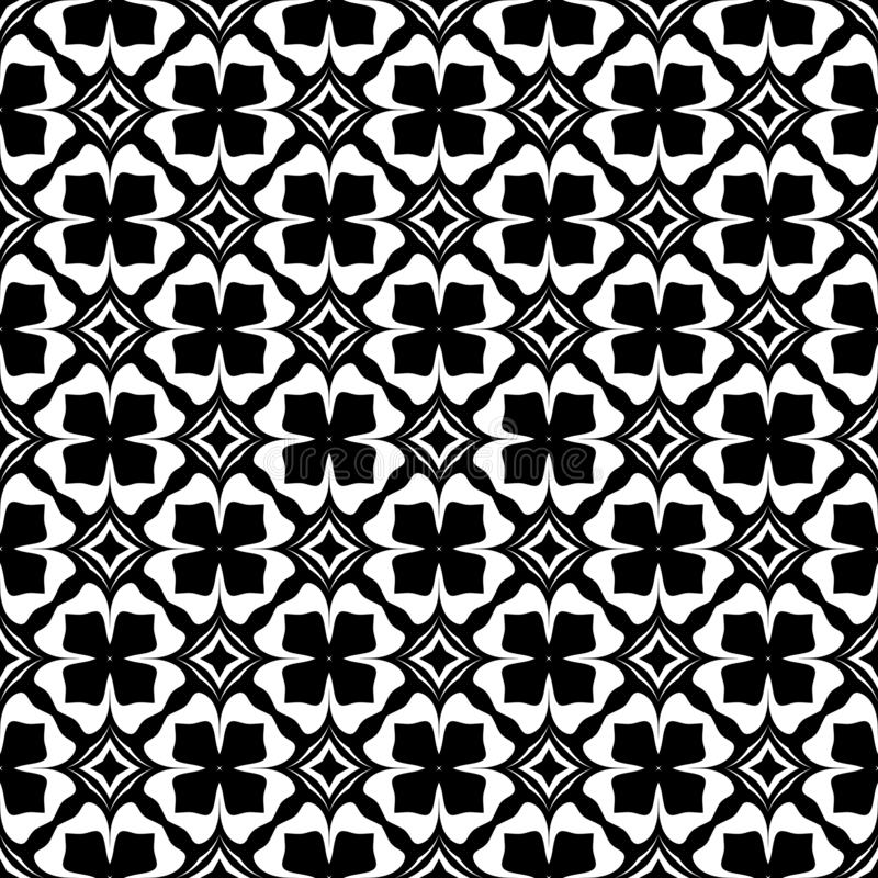 Black and white seamless repeated geometric art pattern background. Textile, books. Background,black,,geometric,pattern,seamless,white,abstract,art, print royalty free illustration