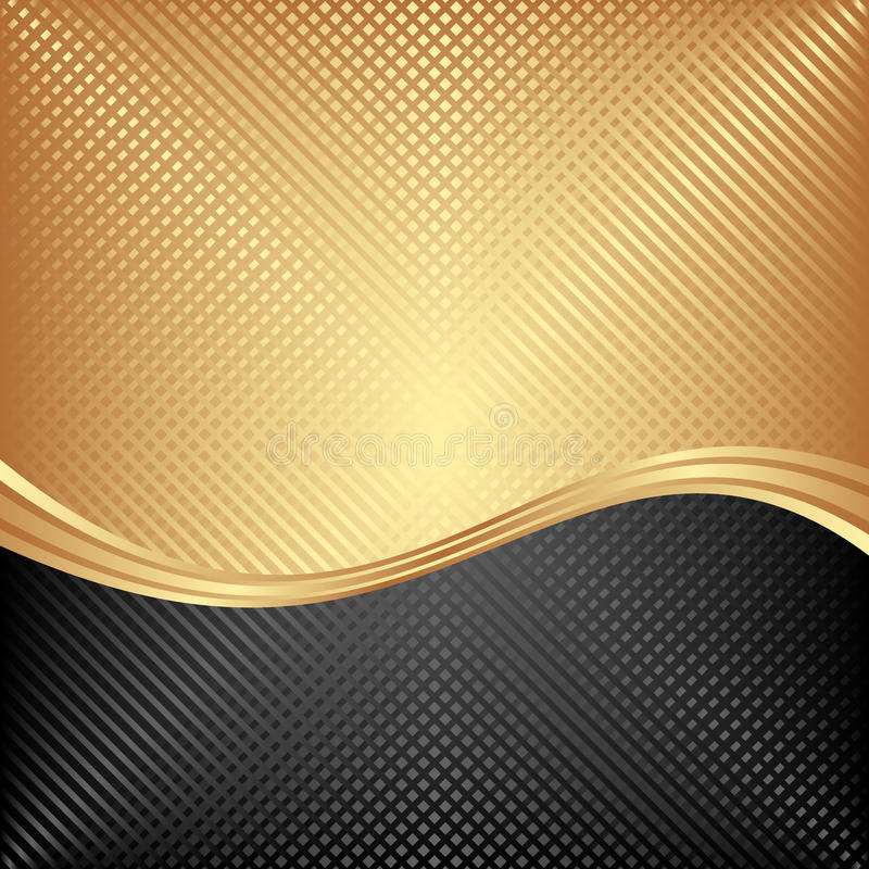 Background. Black and golden background divided into two vector illustration