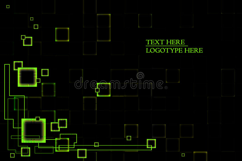 Background black green royalty free illustration