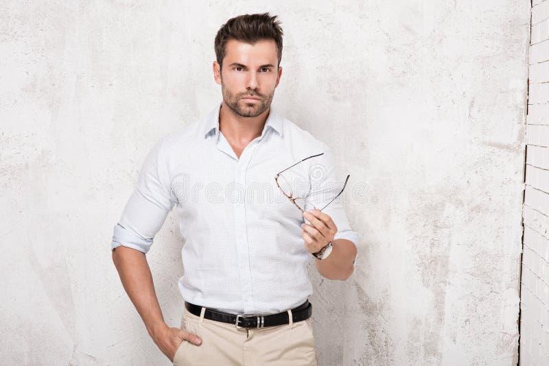 background black handsome isolated man posing shot studio up waist young στοκ φωτογραφία