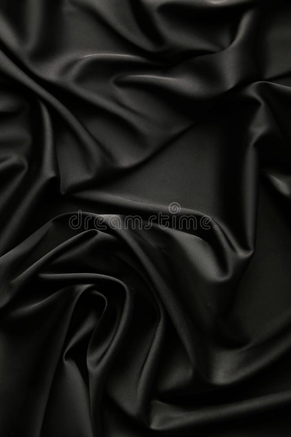Black satin fabric royalty free stock photography