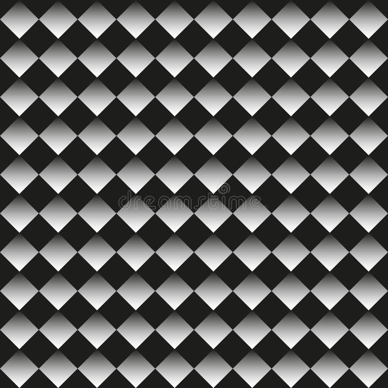 Background of black and white rhombuses vector illustration
