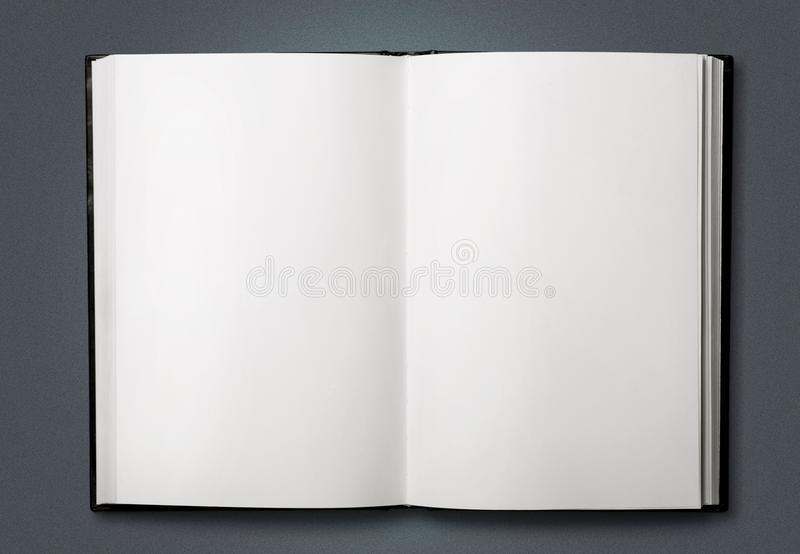 Open blank notebook on background stock images