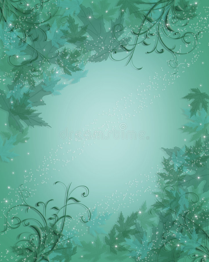 background blue leaves 向量例证