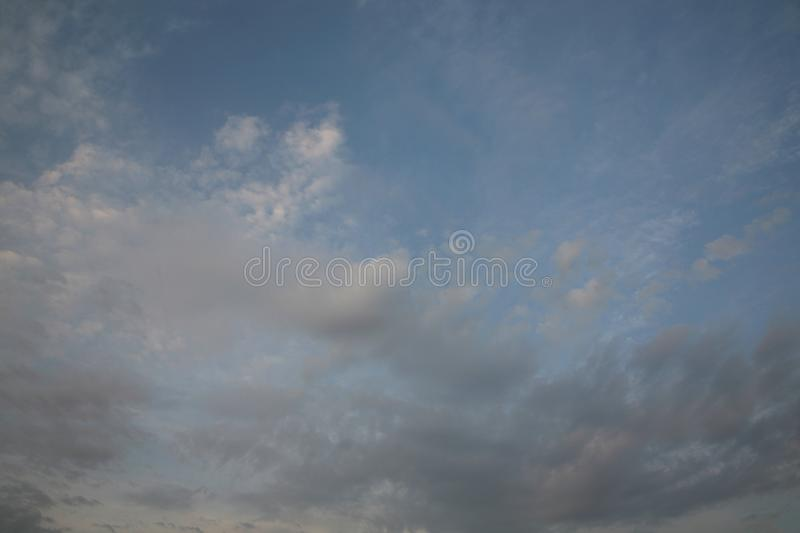 The background of the blue sky as a natural picture. Sky with clouds abstract nature background. The best images of the heavens b stock photography