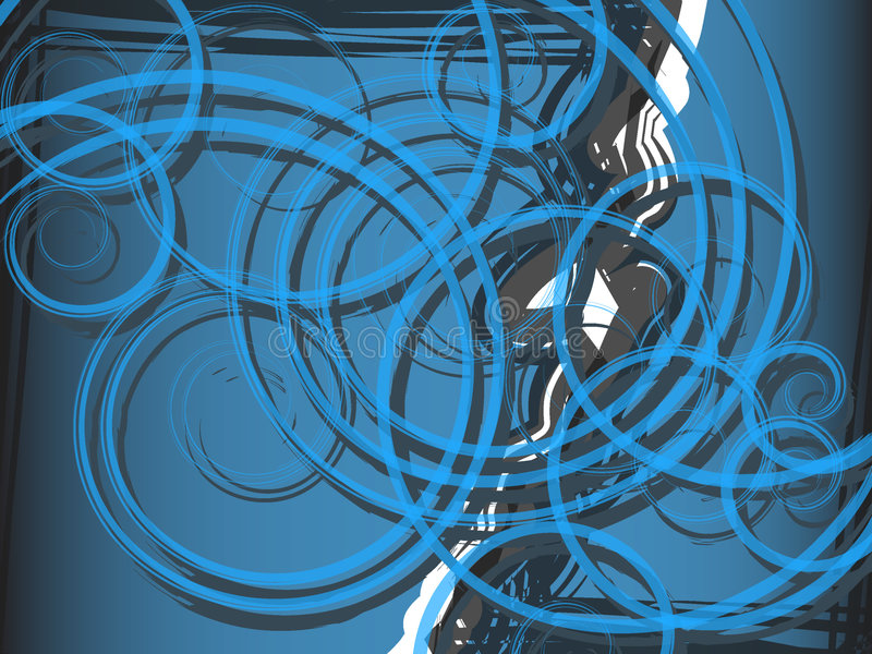 Download Background Blue Spiral Abstraction Stock Vector - Illustration of curves, ornament: 6293952