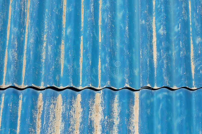 Background blue striped texture metal. Background blue striped texture.  Minimalistic concept for the project stock image