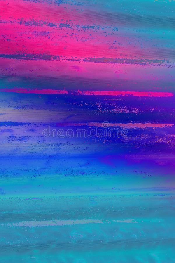 Background blue striped texture. Neon toning. Minimalistic concept for the project stock photography