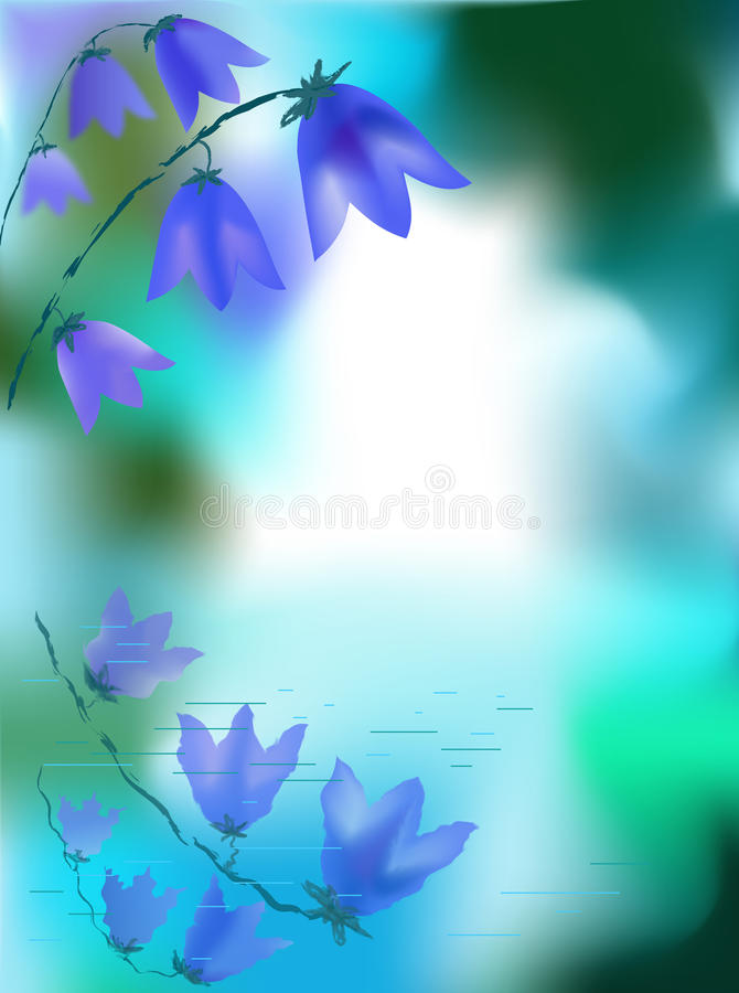 Background with a bluebell