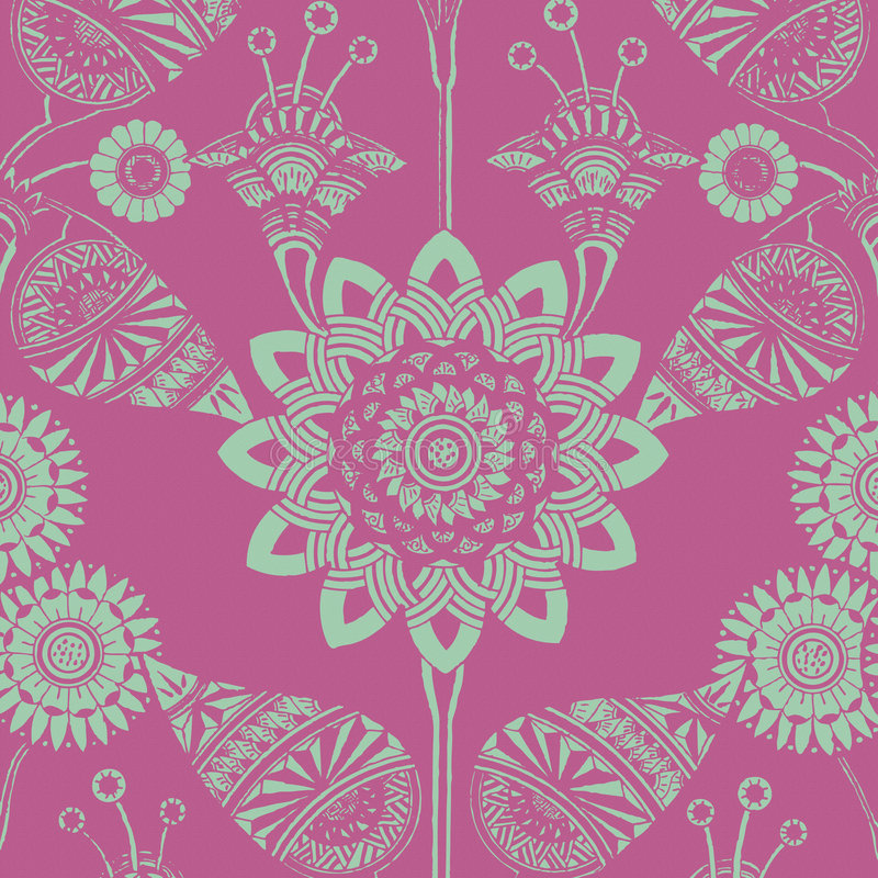 background bohemian floral funky gypsy style ελεύθερη απεικόνιση δικαιώματος