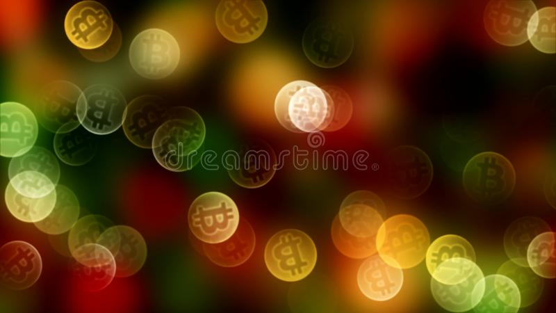 Download Background Bokeh Of Coins Bitcoin In Gold Color. 3d Stock Photo - Image of celebration, happy: 108831836