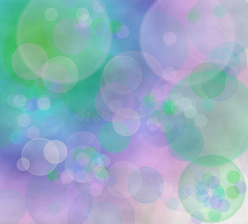 Background with bokeh rings royalty free illustration