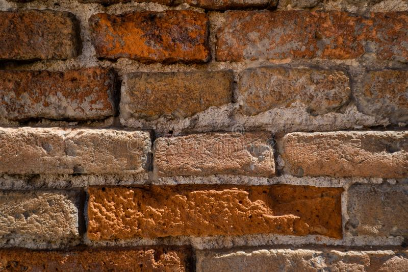 Old worn brick wall texture background. Vintage effect. royalty free stock photos