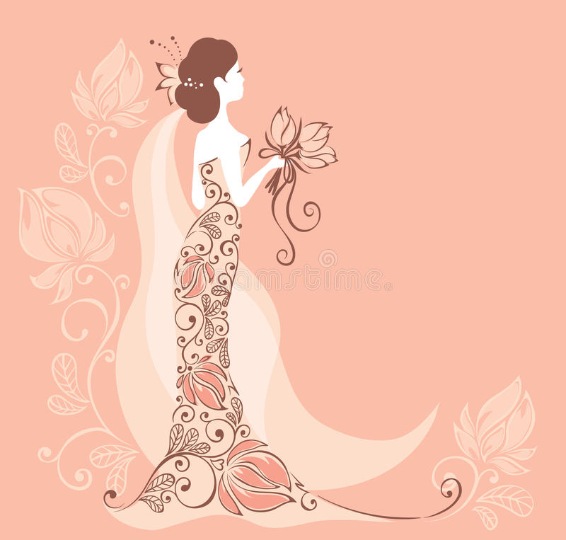 Download Background With A Bride Stock Image - Image: 25140421