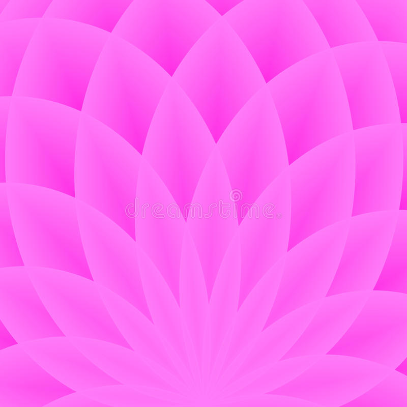 Background with bright purple geometric flower. Flow spectral light. Geometric shapes with many lotus petals. Vector pattern. Tech royalty free illustration