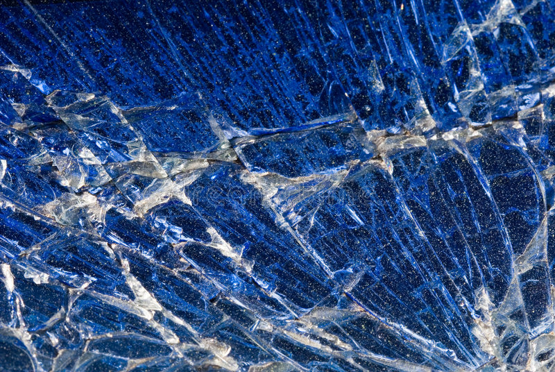 Background - Broken Blue Glass Abstract