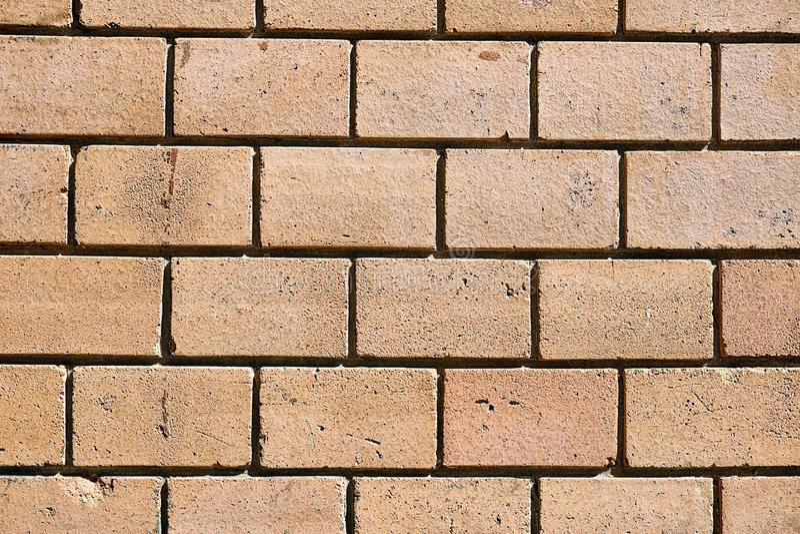 Brown clinker bricks. Background from brown clinker bricks royalty free stock photo