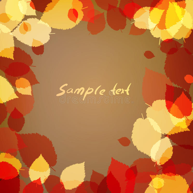 Background with brown leaves vector illustration