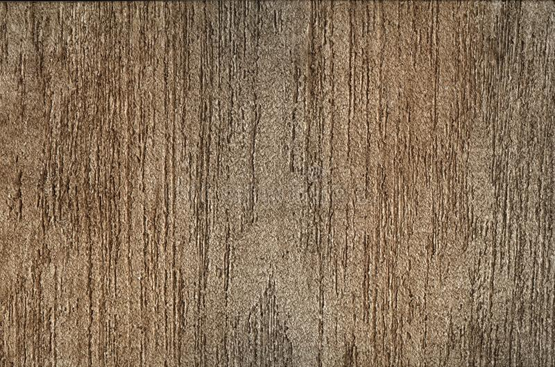 Background - brown plaster in stripes, decorative coating royalty free stock photos