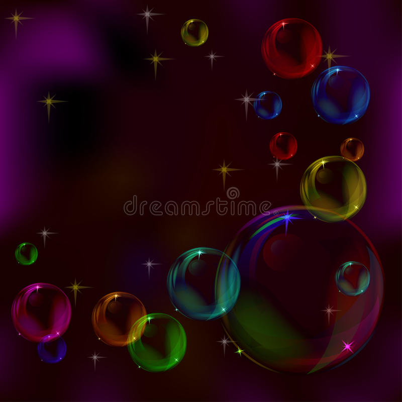 Background, bubbles vector illustration