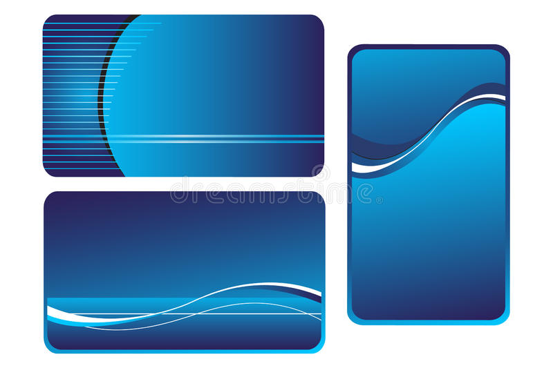 Background for business cards. Blue background for business cards with wavy lines vector illustration