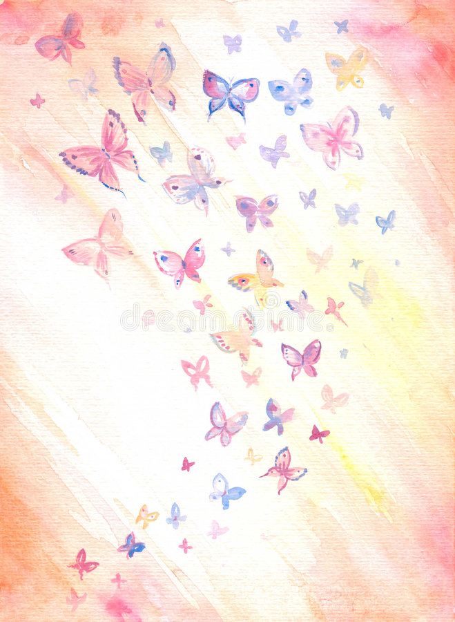 Background with butterflies vector illustration